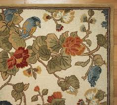 pottery barn bird fl rug