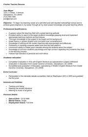Sample Resume For Fresher Teacher In India Resume Ixiplay Free