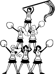 Small Picture Printable Pictures Cheerleading Coloring Pages 71 On Download