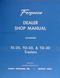 ferguson to20 wiring diagram ferguson image wiring 1946 1954 ferguson te 20 to 20 to 30 tractor repair shop manual on ferguson to20