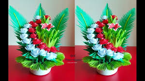 How To Make A Simple Paper Flower Bouquet How To Make Beautiful Paper Flower Bouquet Room Decoration Idea