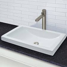the beautifully shaped breanna boast crisp rectangular lines with the slightest downslope in the back of this new take on a classic semi recessed sink