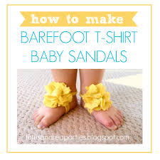 how to make baby barefoot sandals by tutus tea parties
