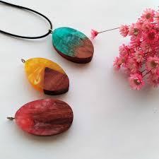 vintage women men necklace magic secret wooden resin necklace handmade long rope statement necklaces pendants jewelry