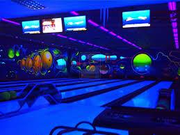 Light Bowling Cool Bowling Alley Black Light Painting Tenpin Bowling