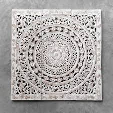 creative designs white wood wall moroc ent carving art distressed hanging siam sawadee carved whitewashed piece