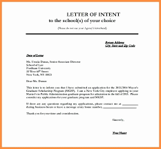 Letter Of Intent Template Free Beautiful Letter Intent School