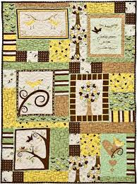 Panel Quilt Patterns Beauteous Chirp Panel Quilt Free Pattern Robert Kaufman Fabric Company