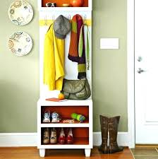 shoe and coat rack bench narrow with storage could be made wider ikea b