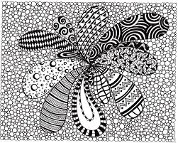 Zentangle Inspired Abstract Art Print Ink