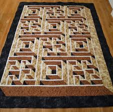 darlaville: Labyrinth Walk quilt completely finished & I had plenty enough fabric for the backing, but the Sasquatch had one  request...some way to easily know the head from the foot...so I added a  black strip to ... Adamdwight.com