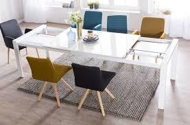 Wohnling Esszimmertisch Glory 160 X 76 X 90 Cm Ausziehbar Hochglanz Weiß Metall Holz Küchentisch Für 8 10 Personen Design Esstisch Rechteckig Um