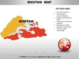 Country Powerpoint Maps Bhutan Powerpoint Diagram