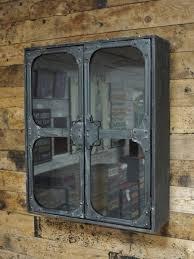 glass shelves rustic storage