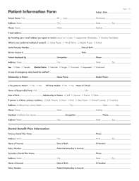 patient information form patient information form fill online printable fillable blank