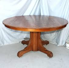 antique oak dining table mission round arts crafts room chairs for
