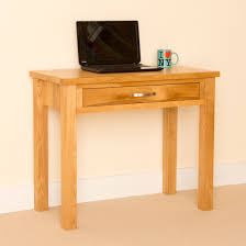 oak hall tables. Newlyn Oak Small Desk / Laptop Light Hall Table With Drawer In Tables