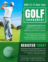 Golf Tournament Flyer Template Golf Tournament Registration Flyer Template