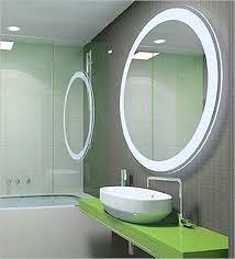 bathroom led lighting ideas. Oval Wall Mirror With Led Light For Bathroom Ideas Lighting