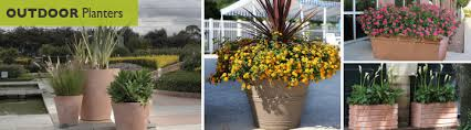 large outdoor planters commercial
