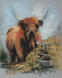 Highland Cow Art limited edition prints by Hilary Barker at Mid Torrie Farm  Callander in Scotland. - Highland Cow Art | Cow art, Highland cow art,  Highland cow