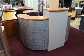 alluring second hand reception desk office table used reception desk iowa used reception desks
