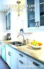 under cabinet lighting installation. Hardwired Under Cabinet Lighting Awesome Options Kitchen . Installation