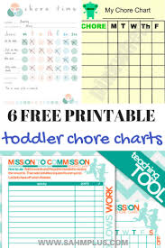 Toddler Chore Chart Printables 6 Free Chore Charts For