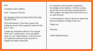 Formal Resignation Letter Sample 1 Month Notice Filename – Know-Belize