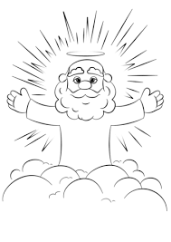Small Picture Cartoon God on a Cloud coloring page Free Printable Coloring Pages