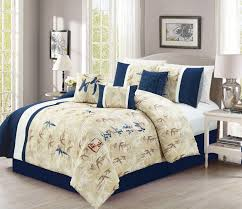 romero bamboo embroidery 7 piece comforter set