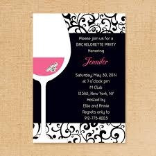 bachelorette party invite pink and black wine themed bachelorette invitation ideas ewbi018