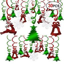 Christmas Swirls Christmas Hanging Swirl Decoration Kit 30pcs Konsait Merry Import It All