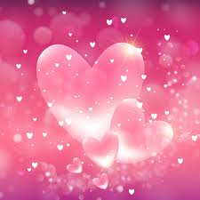 Valentines Hearts Background Vector Free Download