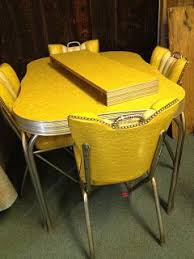 Vintage table and chairs Formica Table Vintage Metal Kitchen Tables And Chairs Restoring 1950s Kitchen Tables And Chairs One Of These In The Barn Too But Not This Color Lol Its Blue One Pinterest Vintage Metal Kitchen Tables And Chairs Restoring 1950s Kitchen