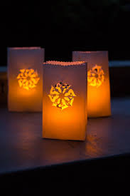 Paper Bag Luminaries - you can make beautiful designs in minutes simply by  using a paper