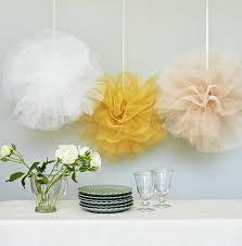 Hanging Pom Pom Decorations Pastel Net Pom Pom Hanging Wedding Decoration By Just Add A Dress