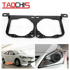 Us 20 43 10 Off Taochis Retrofit Adapter Frame Head Light For Hyundai Verna High Configuration Hella 3r G5 5 Projector Lens Retorfit In Car Light