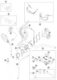 Handlebar controls ktm 690 enduro r 2012 eu