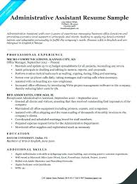 Resume For Administrative Assistant Amazing Resume Qualifications Examples Summary Of For Resumes Samples Sample