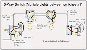3 way switch wiring diagram 3 way switch wiring diagram multiple lights at 3 Way Switch Wiring Diagram