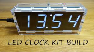 4 digit led clock kit with temperature full build