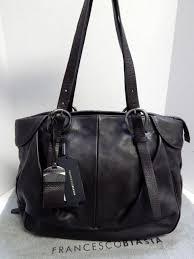 new francesco biasia a93206 dulcie brown leather large tote shoulder bag nwt