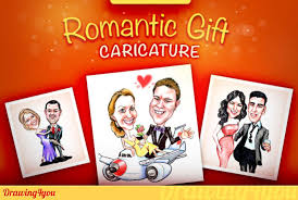 i will draw romantic gift caricature