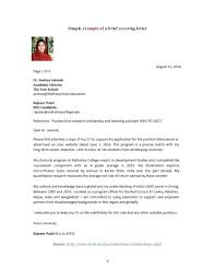 Cover Letter For Lecturer Job Application In Engineering College