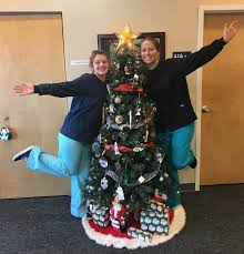 Decorating The Dental Office Christmas Tree Wahl Family