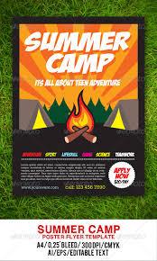 Camp Flyer Summer Camp Flyer Gulali Graphicriver Coastal Flyers
