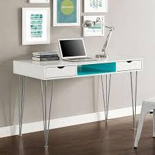 modern white office desks. sleek 48 modern white office desks