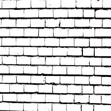 Batu Bata, Dinding, Hitam Dan Putih gambar png