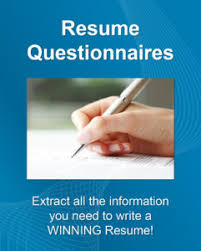 Need Help Writing A Resume? Our DIY Resume Questionnaires Make It Easy!